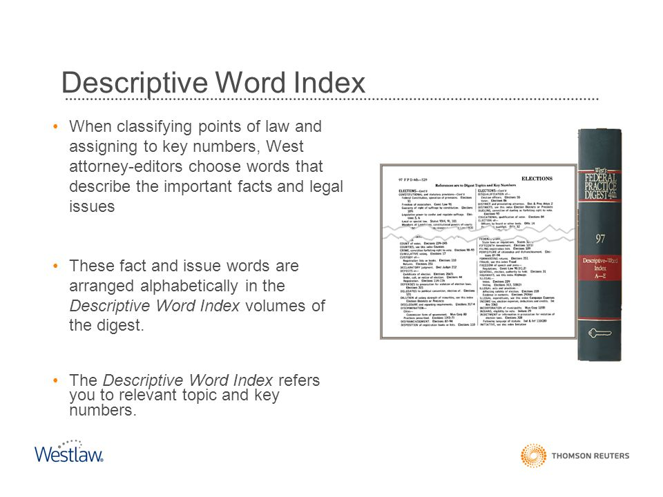 Descriptive Word Index