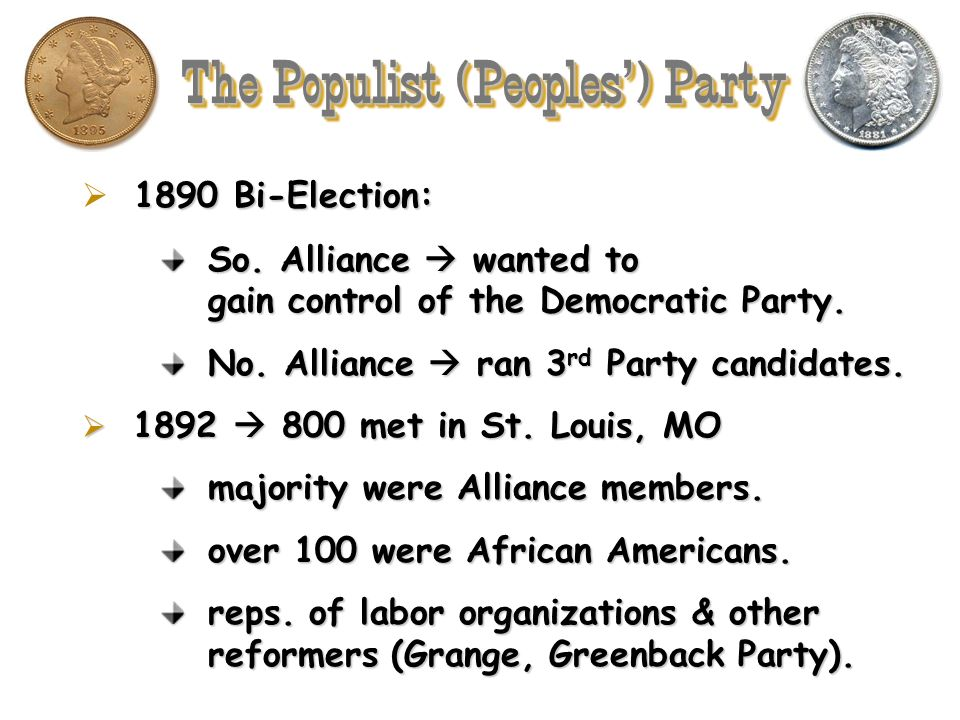 The Populist (Peoples') Party