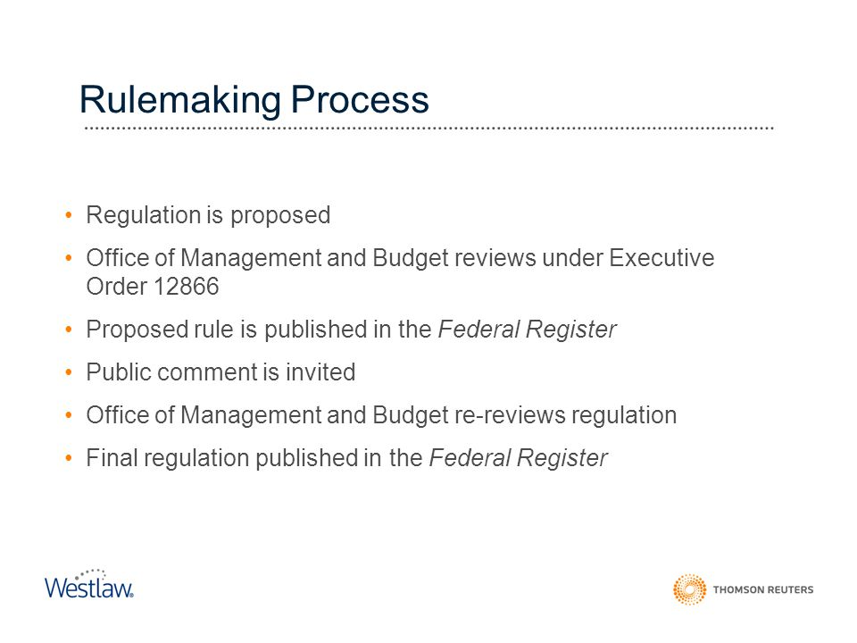 Rulemaking Process Regulation is proposed