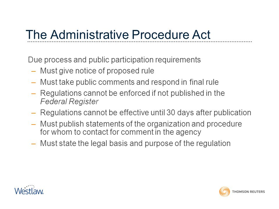 The Administrative Procedure Act