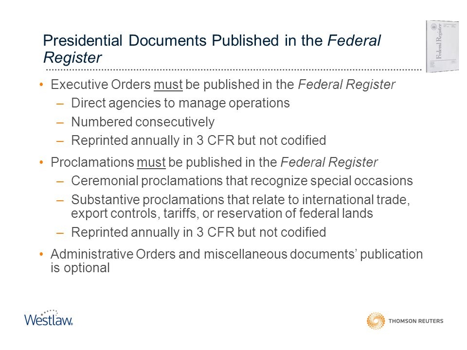 Presidential Documents Published in the Federal Register