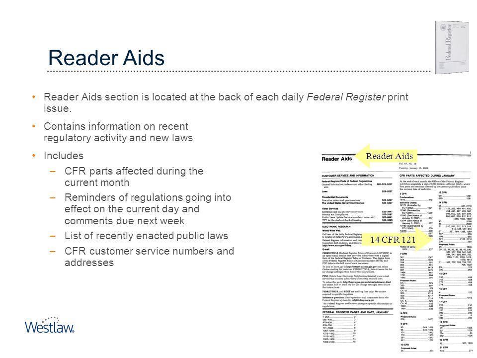 Reader Aids Federal Register