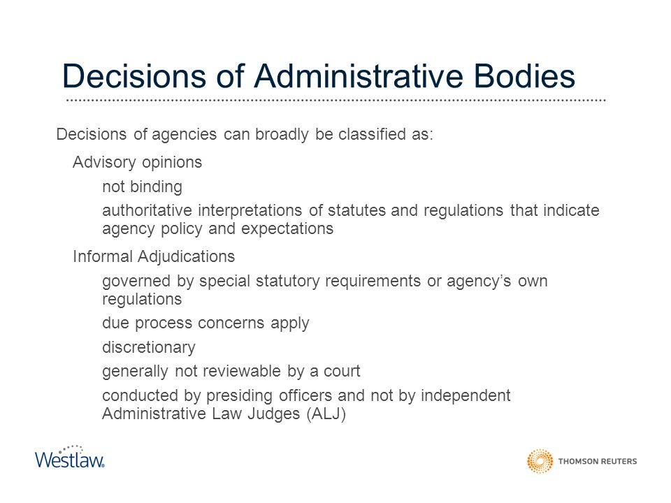Decisions of Administrative Bodies