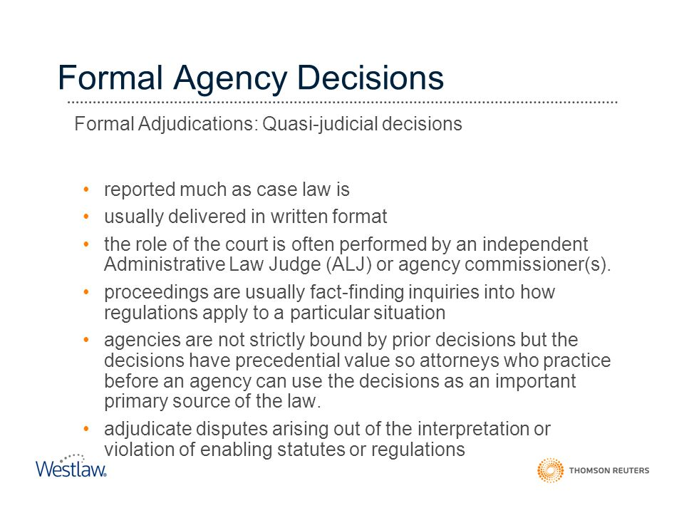 Formal Agency Decisions