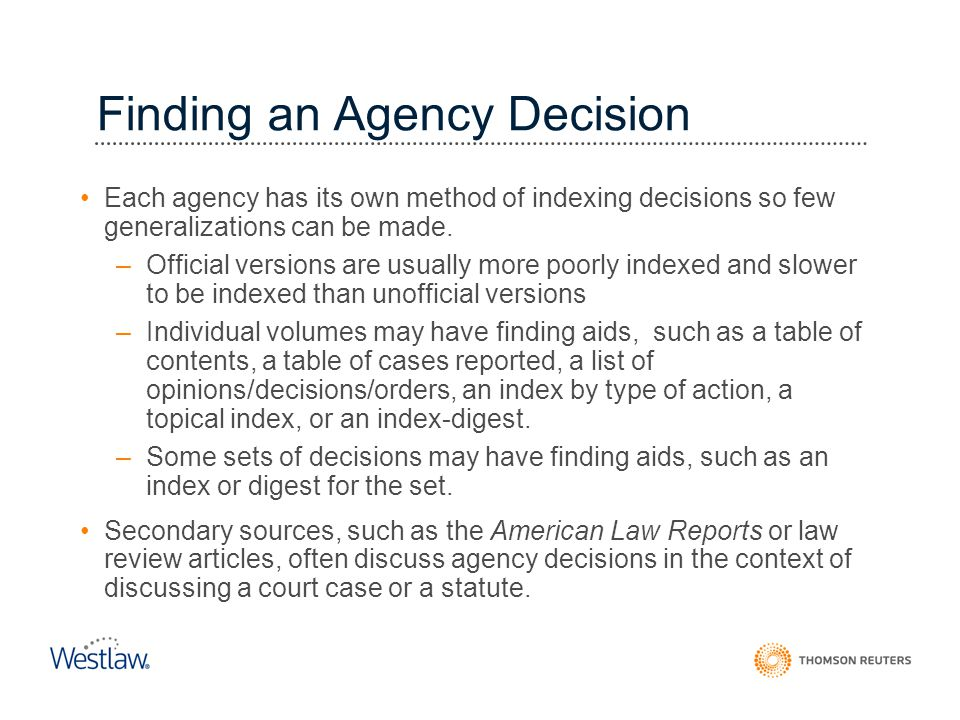 Finding an Agency Decision