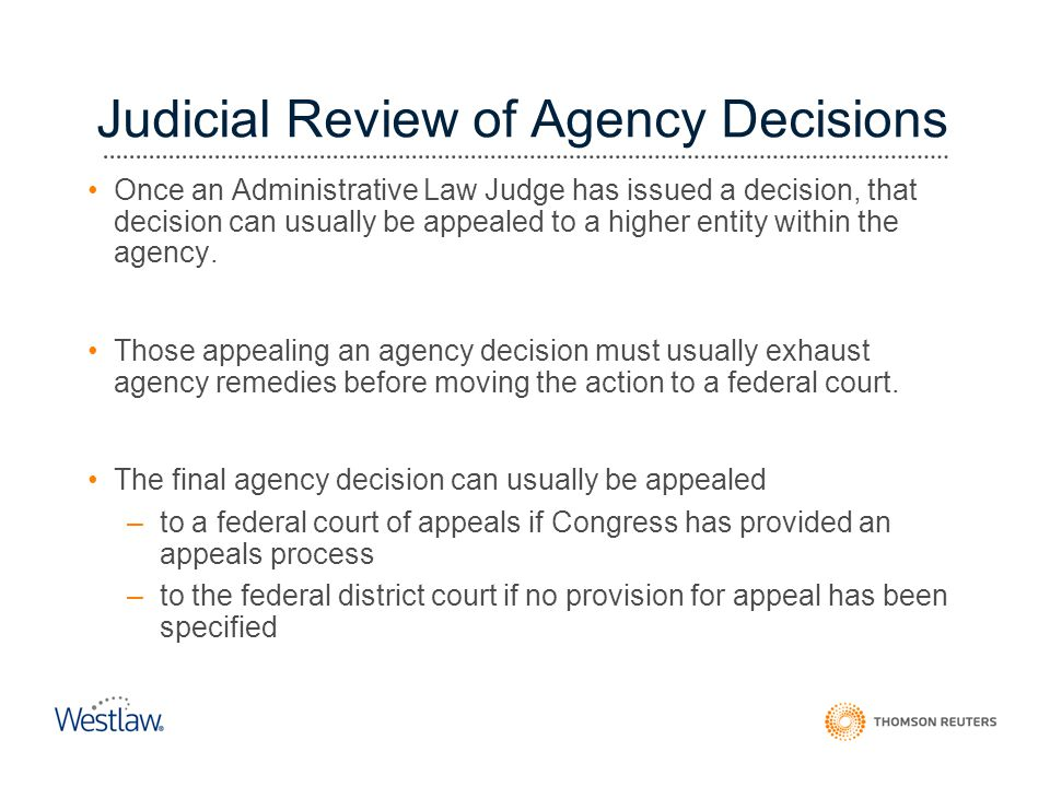 Judicial Review of Agency Decisions