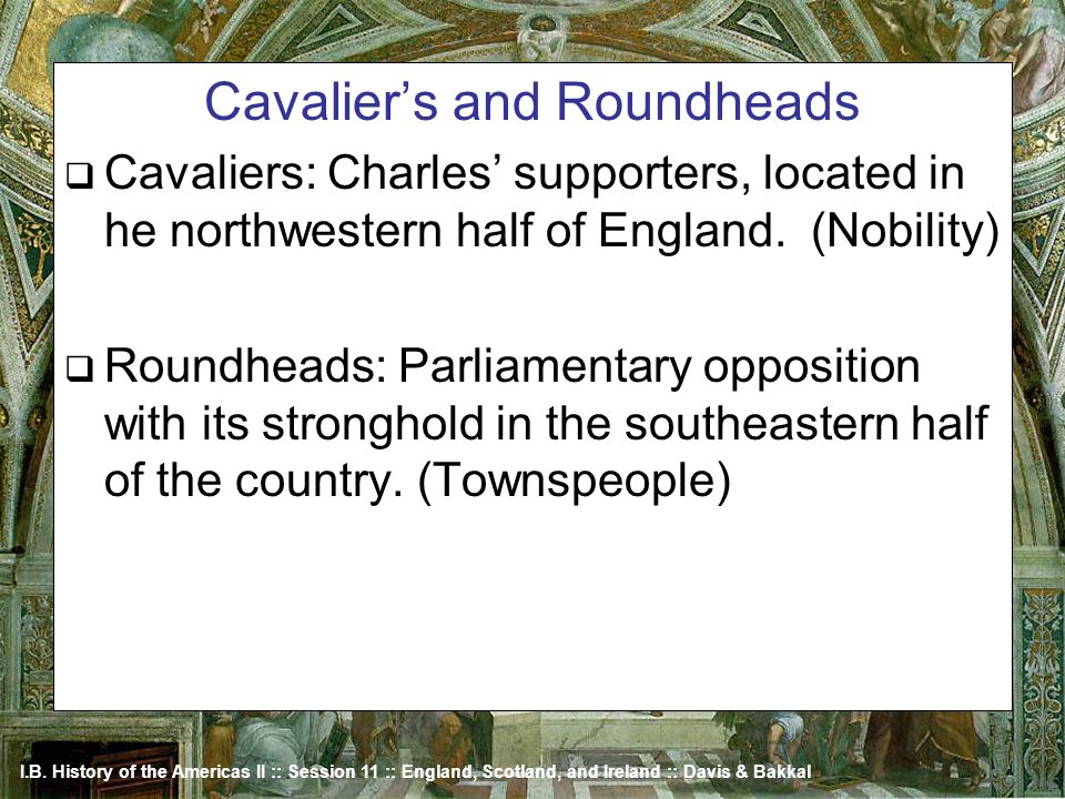 Cavalier's and Roundheads