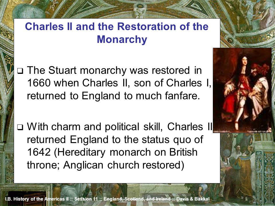 Charles II and the Restoration of the Monarchy