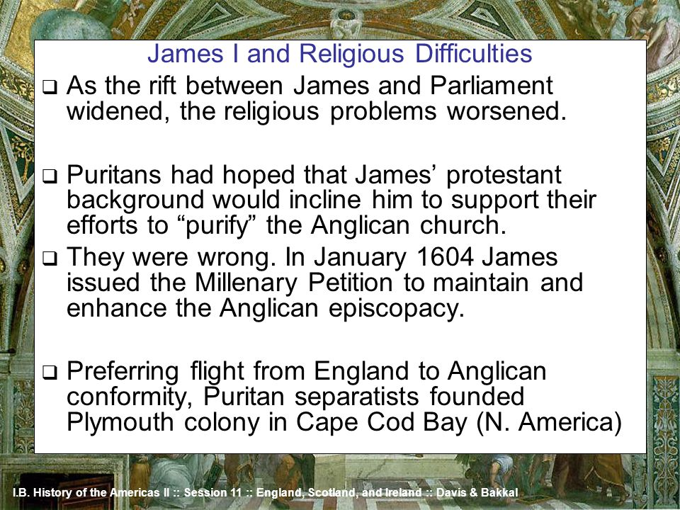 James I and Religious Difficulties