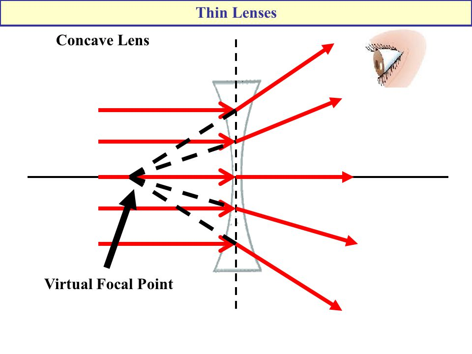Thin Lenses Concave Lens Virtual Focal Point