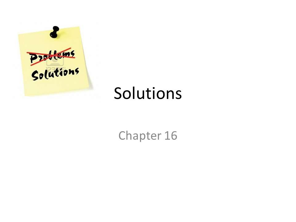 Solutions Chapter 16
