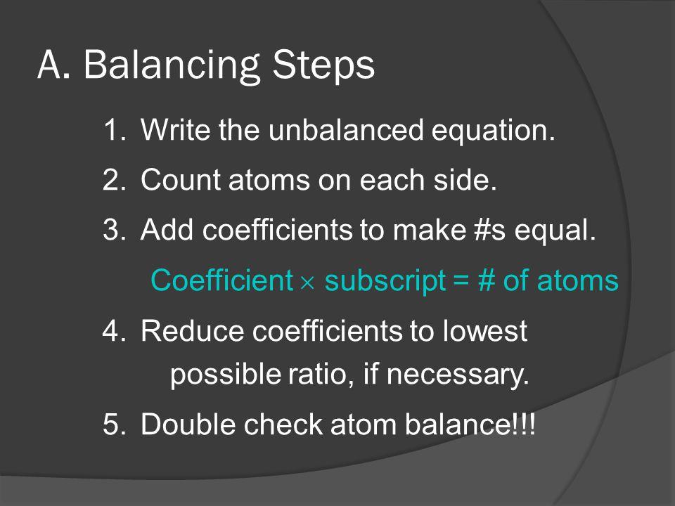 A. Balancing Steps
