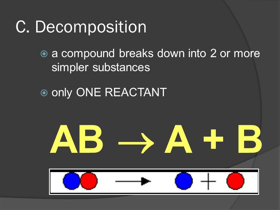 AB  A + B C. Decomposition