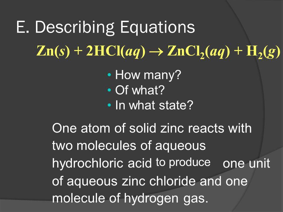 E. Describing Equations