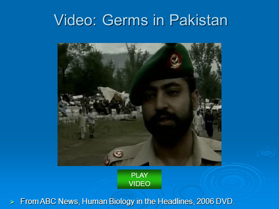 Video: Germs in Pakistan