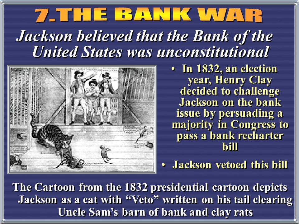 Jackson vetoed this bill