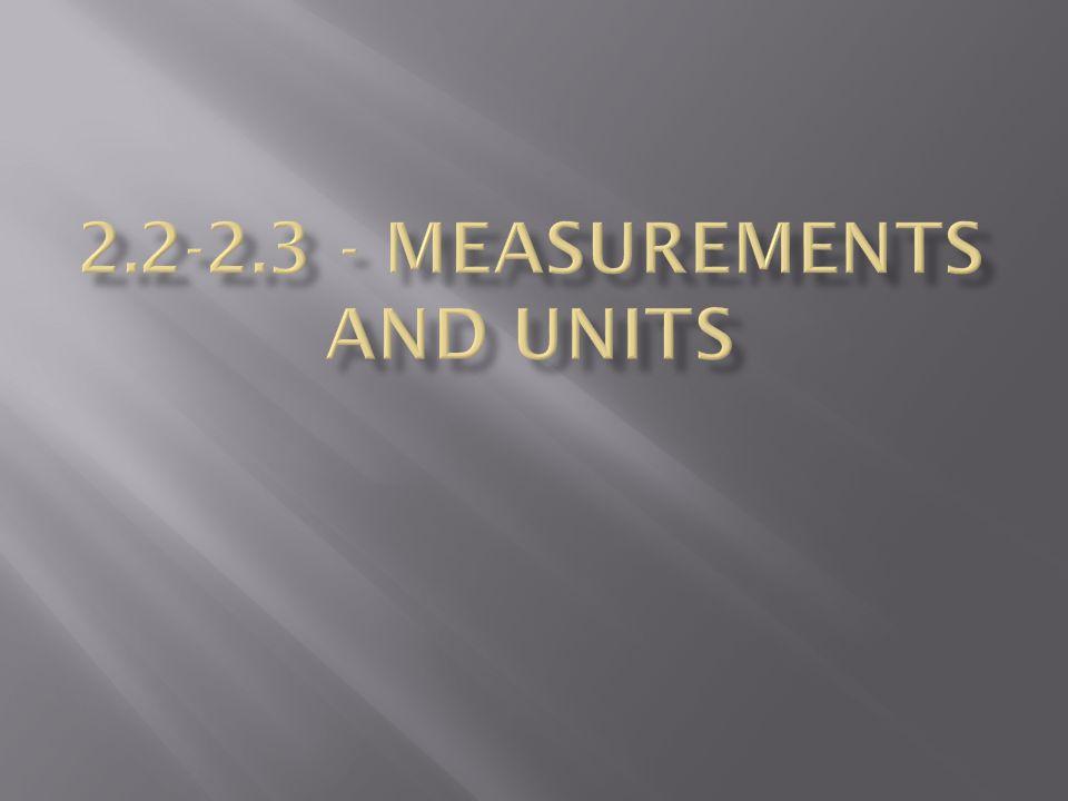 2.2-2.3 - Measurements and Units