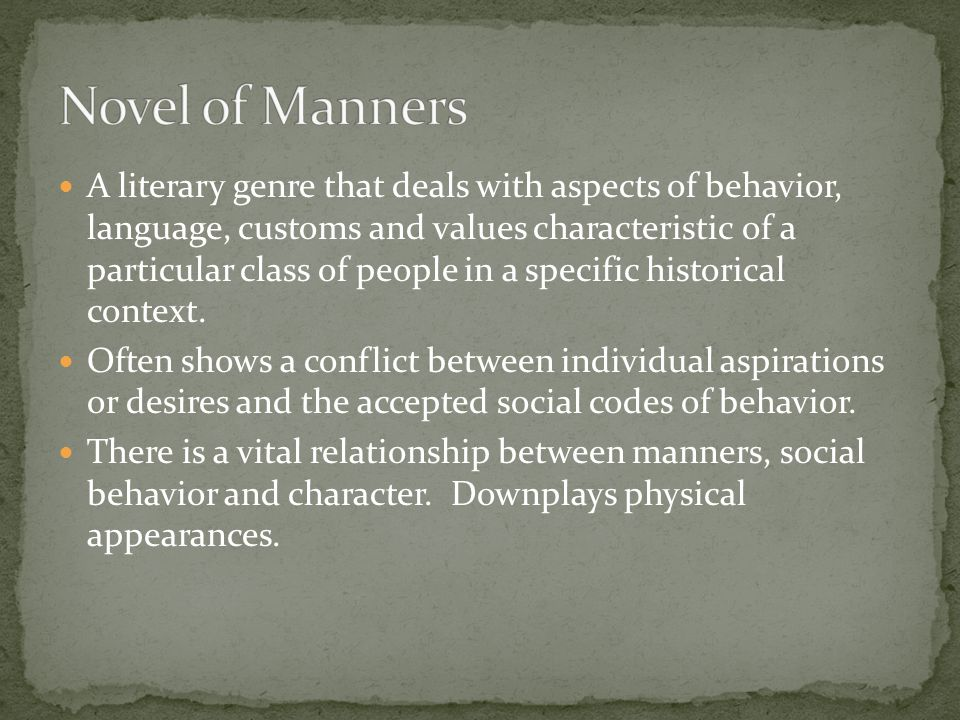Novel of Manners