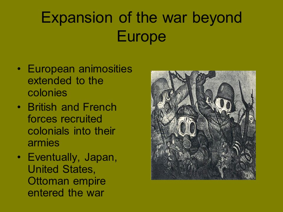 Expansion of the war beyond Europe
