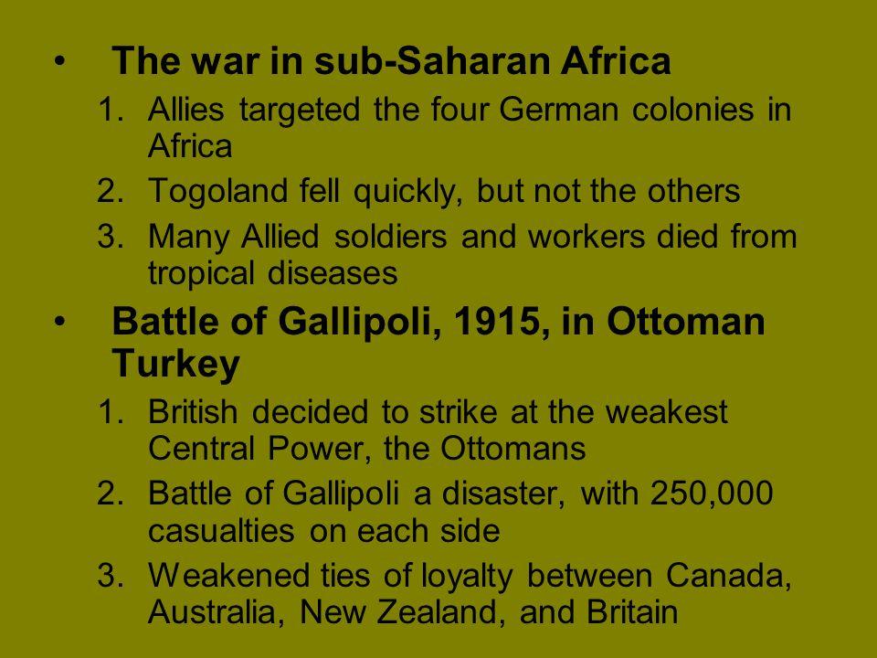 The war in sub-Saharan Africa