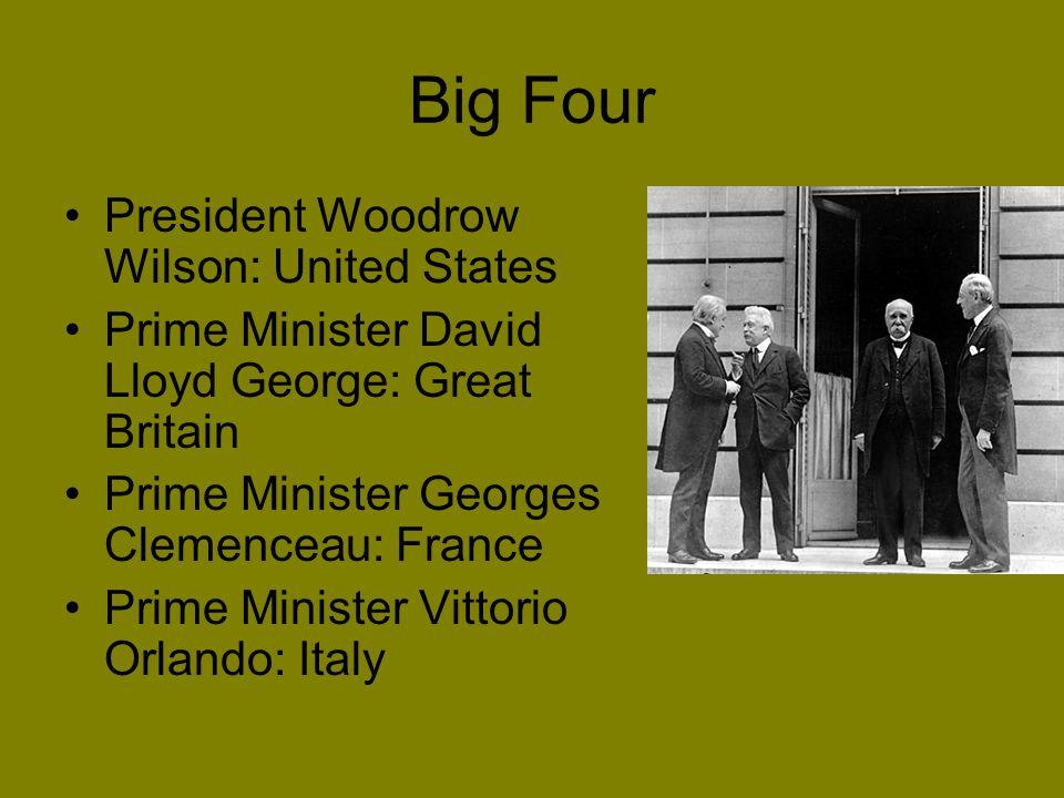 Big Four President Woodrow Wilson: United States