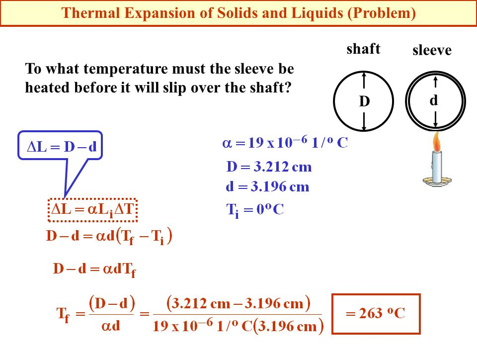 Thermal Expansion of Solids and Liquids (Problem)