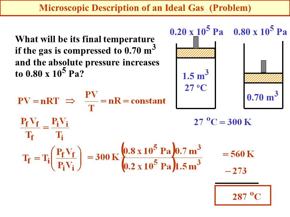 Microscopic Description of an Ideal Gas (Problem)