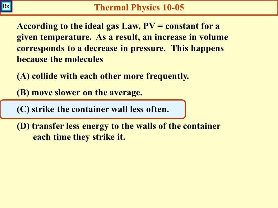 Thermal Physics 10-05