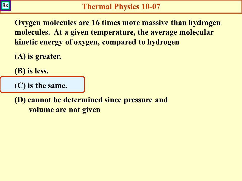 Thermal Physics 10-07