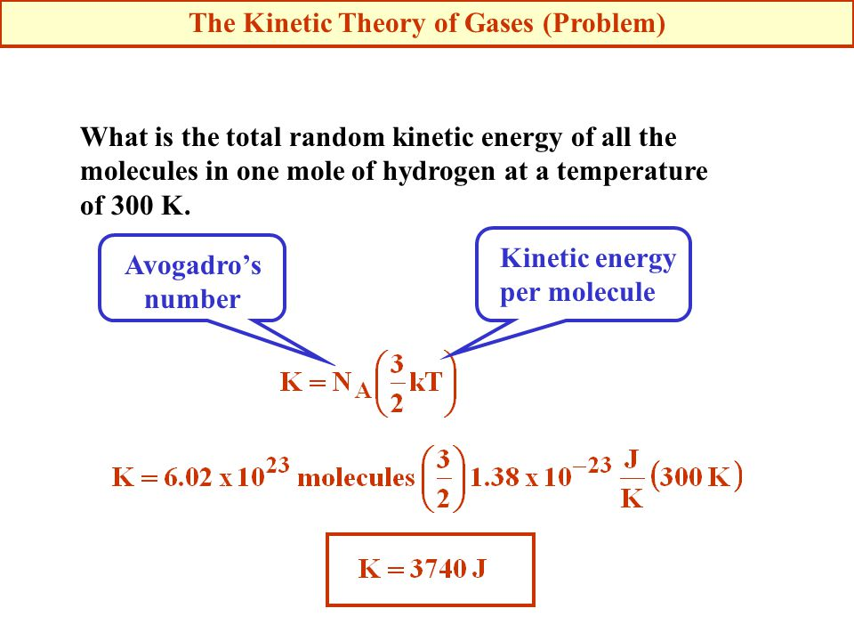 The Kinetic Theory of Gases (Problem)