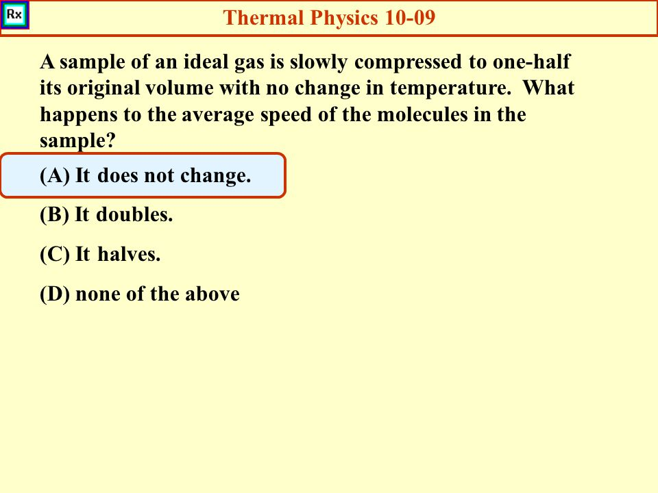 Thermal Physics 10-09