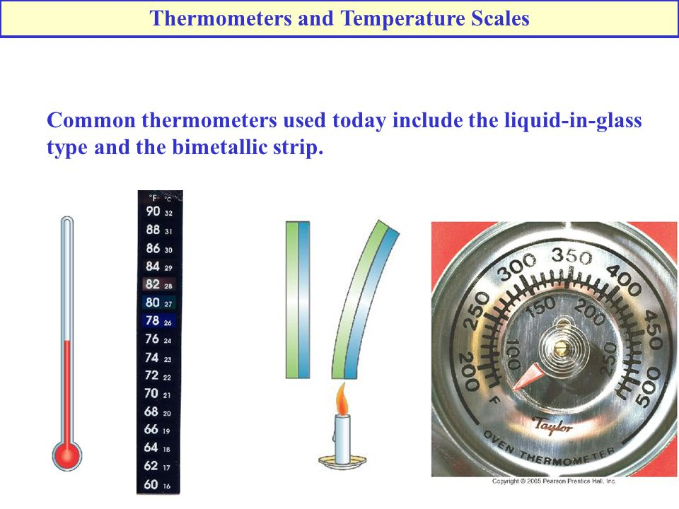 Thermometers and Temperature Scales
