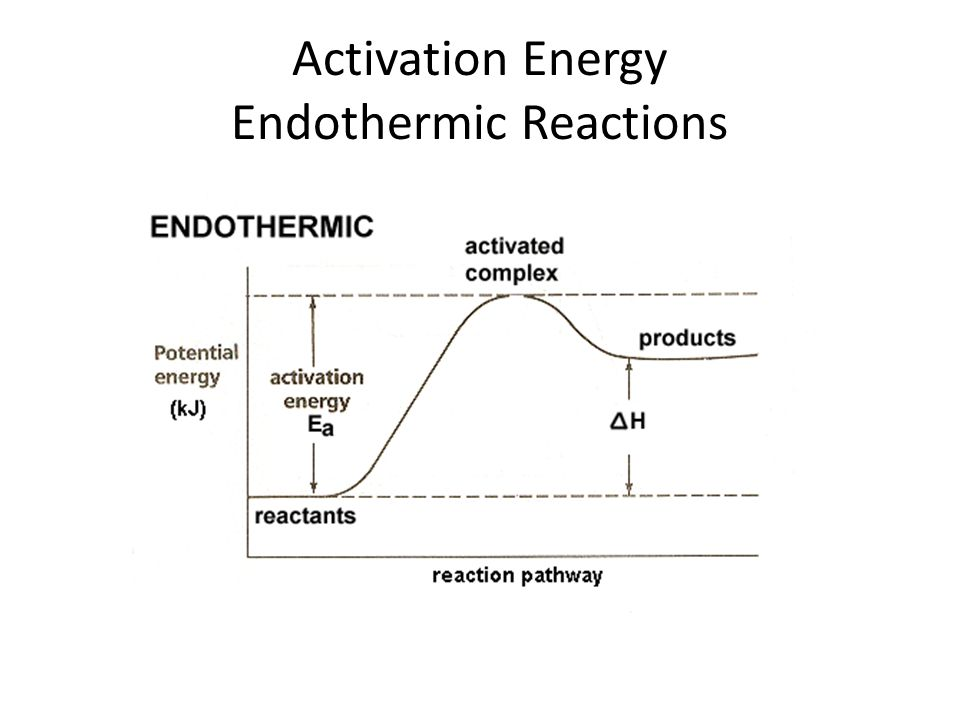 Activation Energy Endothermic Reactions