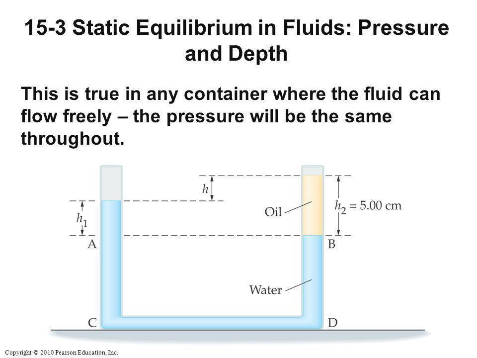 15-3 Static Equilibrium in Fluids: Pressure and Depth