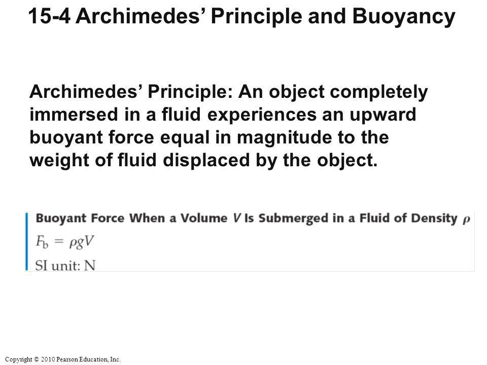 15-4 Archimedes' Principle and Buoyancy