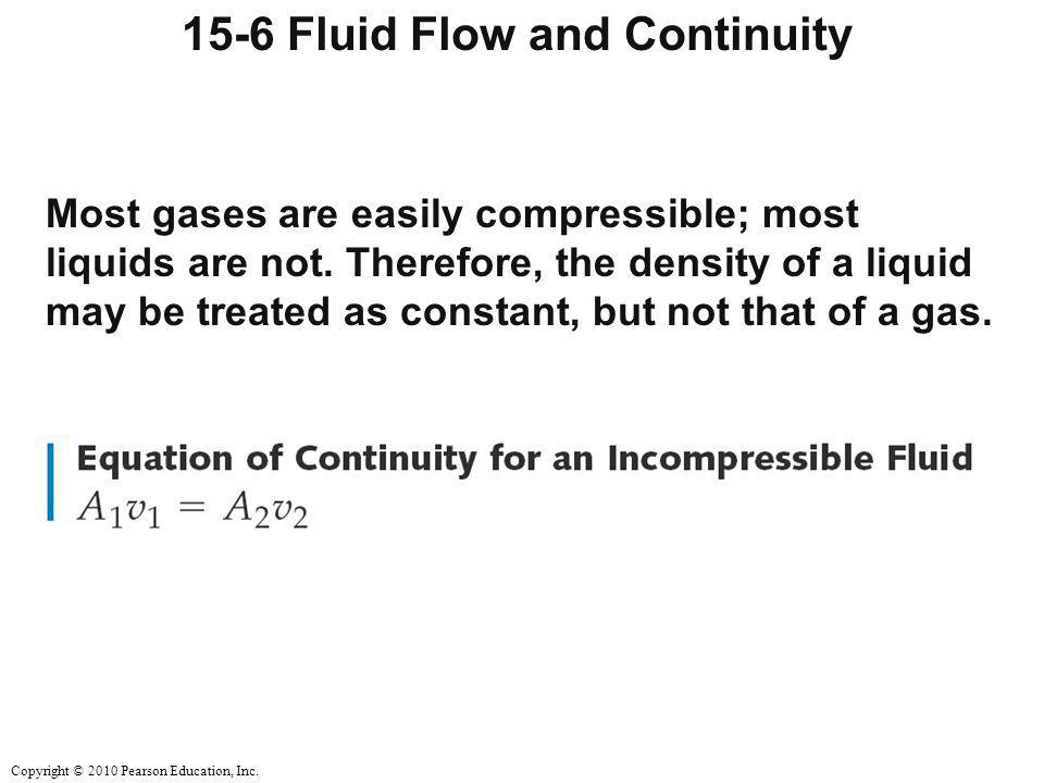 15-6 Fluid Flow and Continuity