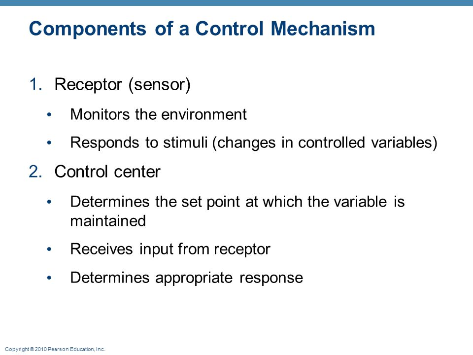 Components of a Control Mechanism