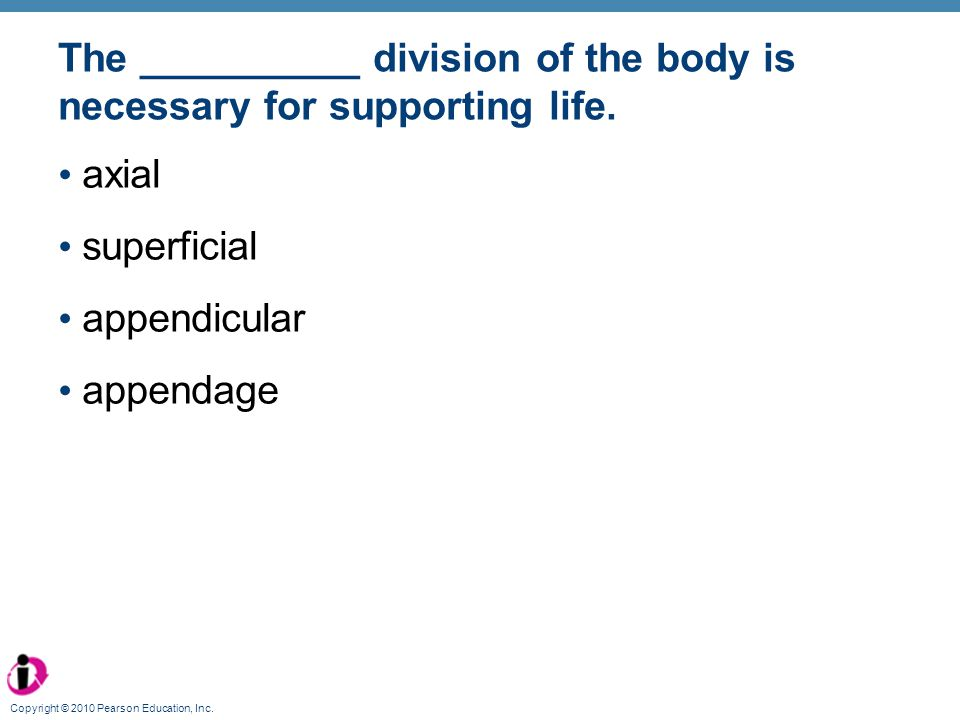 The __________ division of the body is necessary for supporting life.