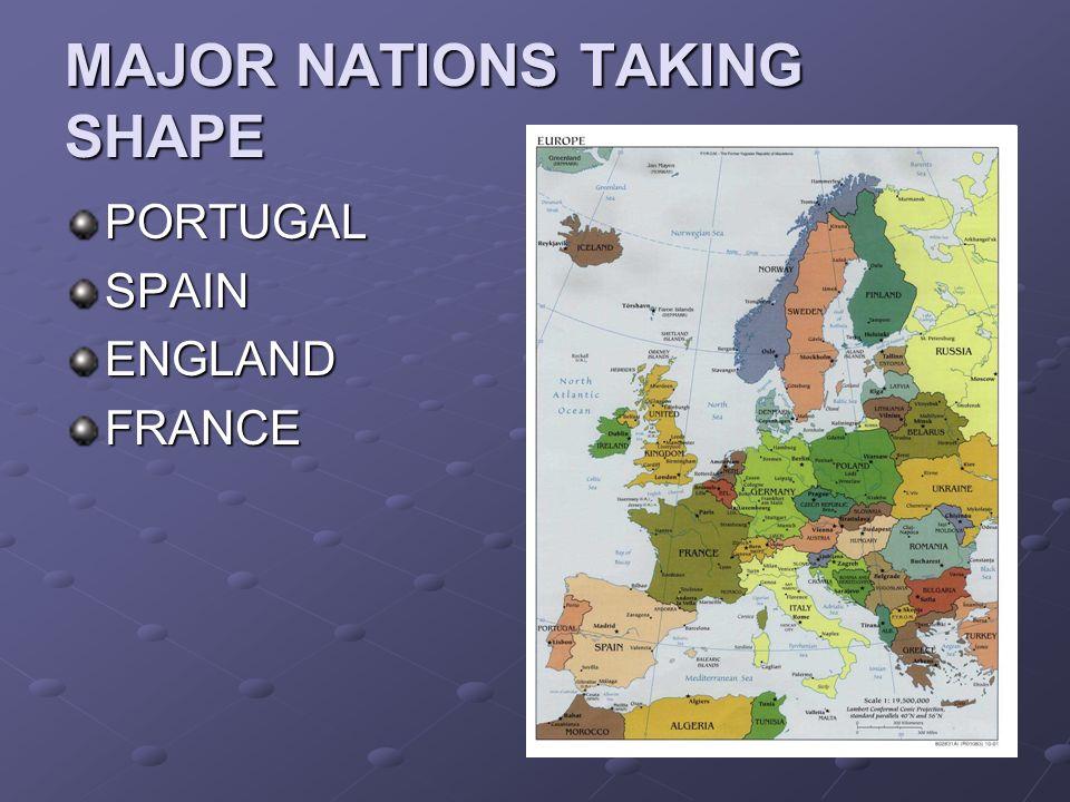 MAJOR NATIONS TAKING SHAPE