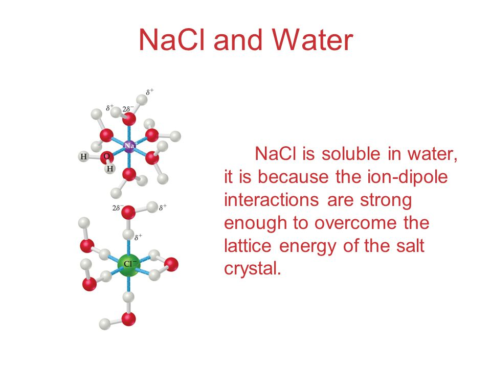 NaCl and Water