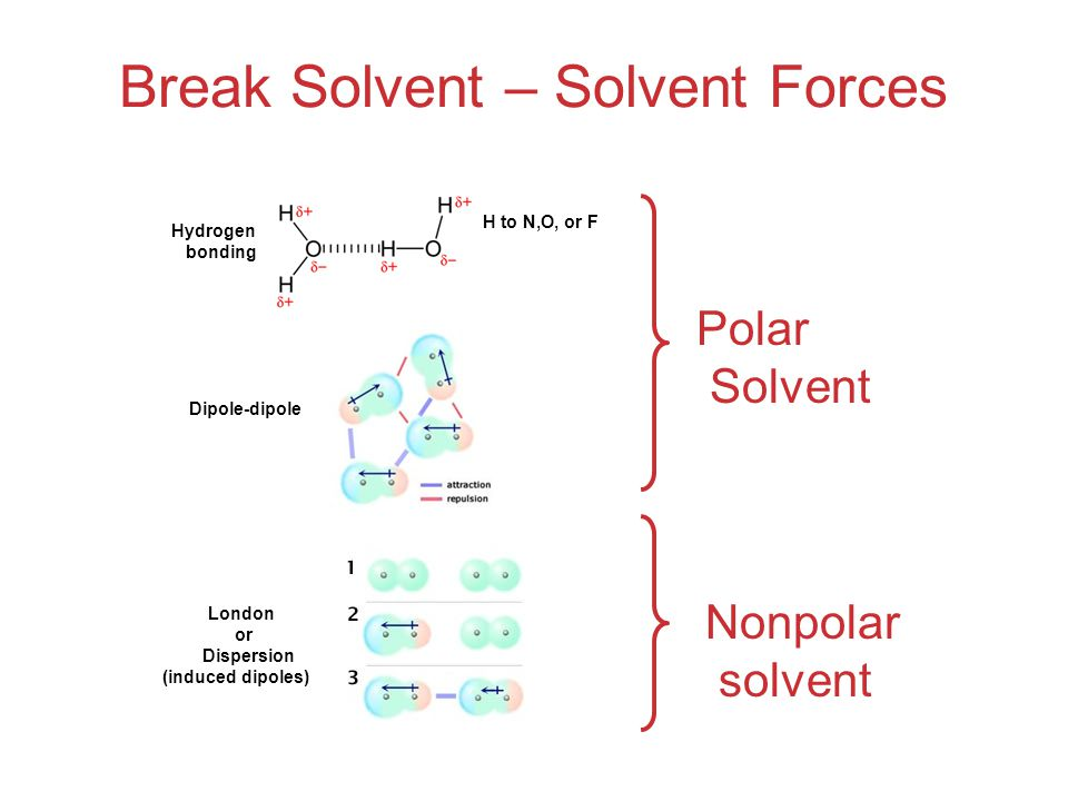 Break Solvent – Solvent Forces
