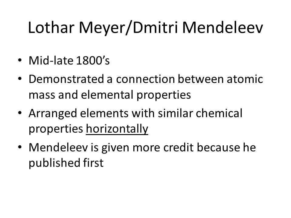 Lothar Meyer/Dmitri Mendeleev