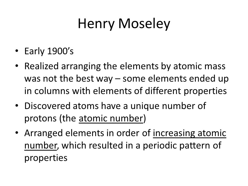 Henry Moseley Early 1900's.