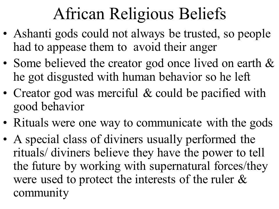 African Religious Beliefs