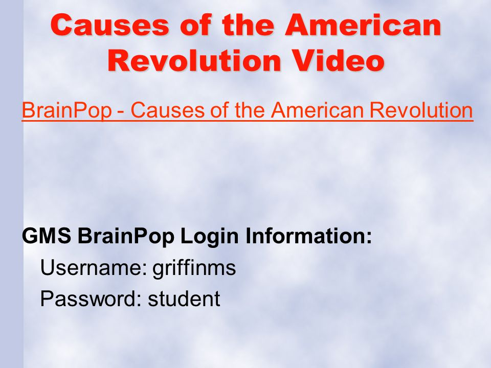 Causes of the American Revolution Video