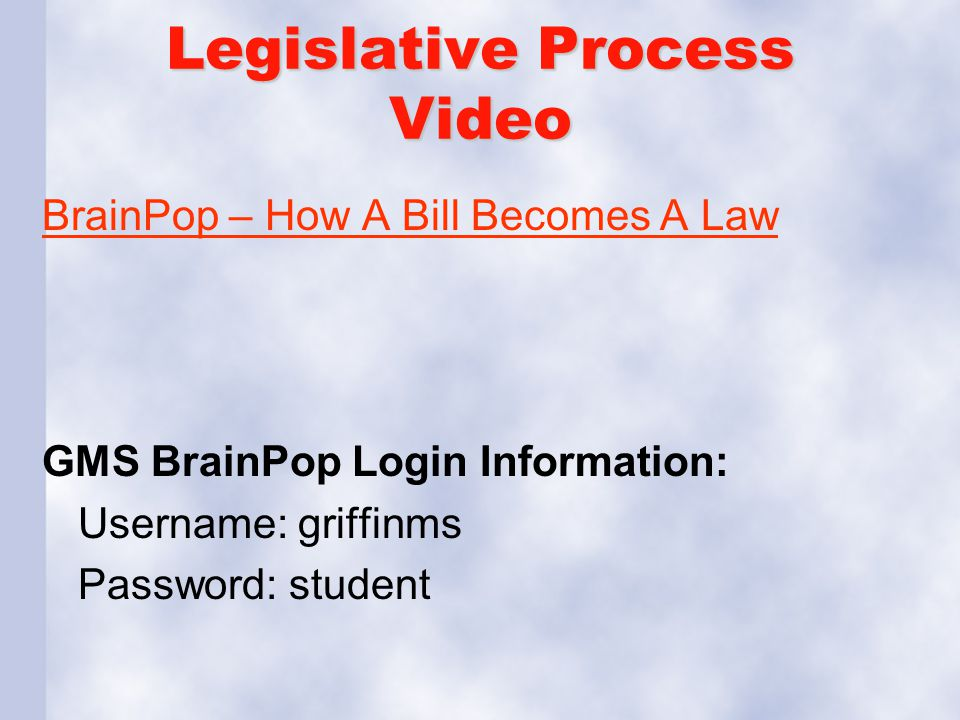 Legislative Process Video