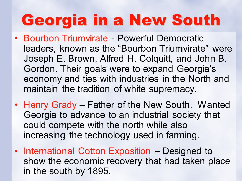 Georgia in a New South