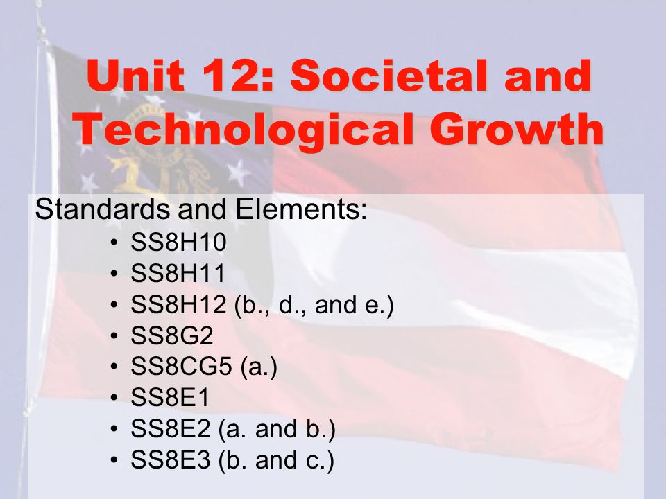 Unit 12: Societal and Technological Growth