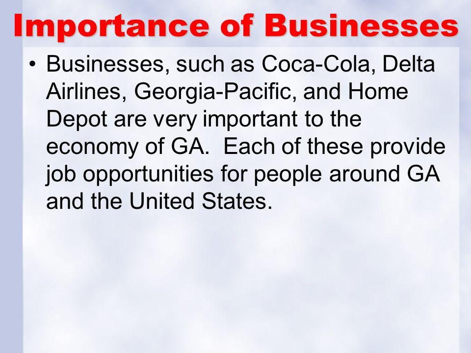Importance of Businesses