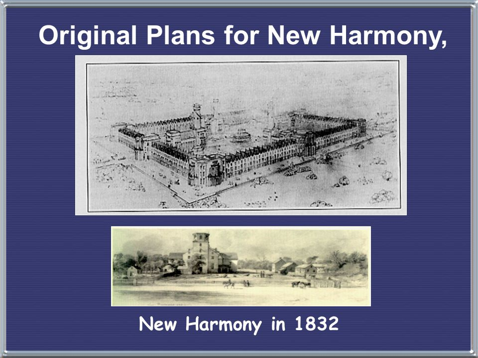 Original Plans for New Harmony, IN